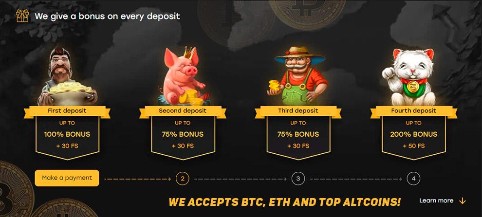 Kasino bitcoin dalam talian tanpa deposit minimum